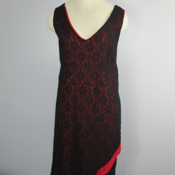 82fb20aab220 torrid Dresses | Sleeveless Red Black Lace Dress Size 24 | Poshmark